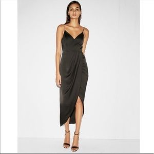 Express Satin Wrapped Dress